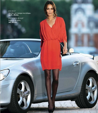 el corte ingles otoño 2012 semana fantastica vestido rojo