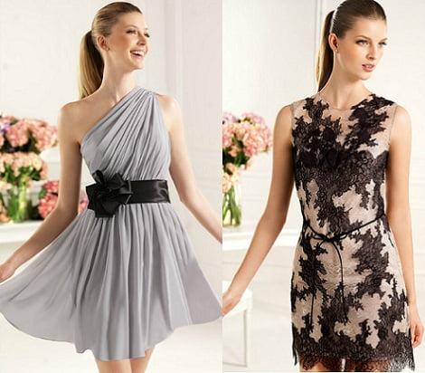 catalogo vestidos fiesta pronovias 2013 cortos asimetrico