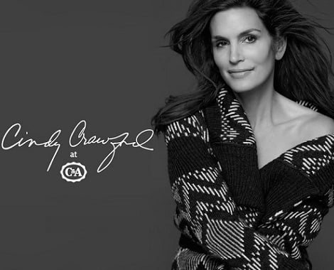 cindy crawford for c and a